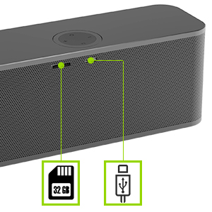 wireless speaker with multiple play mode