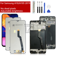 Samsung Galaxy A10 Lcd 2019 A105 A105F SM A105F ekran dokunmatik ekran Digitizer için çerçeve ile samsung a10 ekran onarım parça