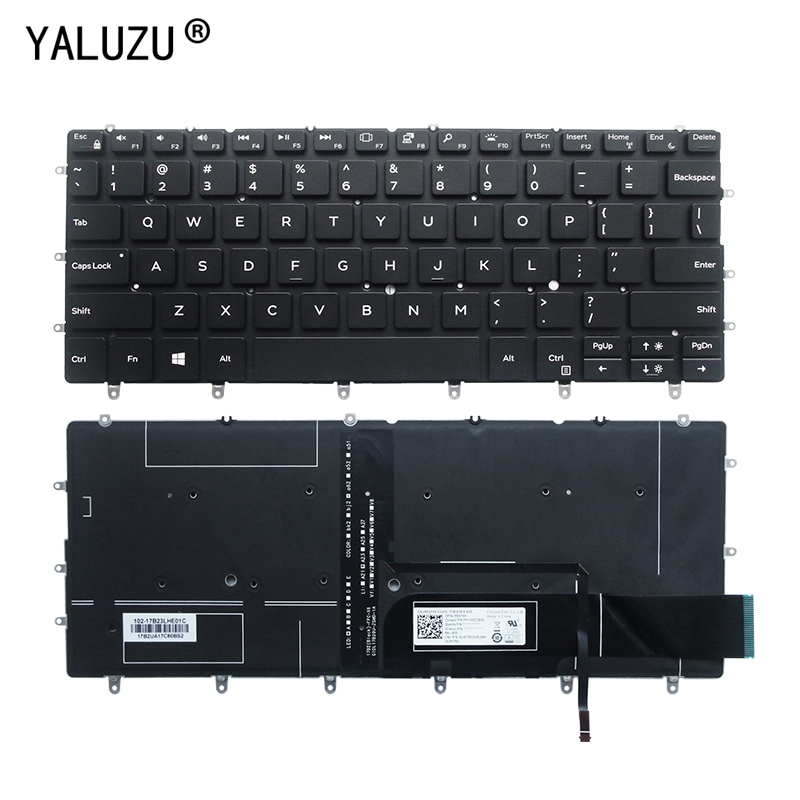 English Keyboard For DELL XPS 13 9370 13-9370 13-9370-D1705S 9317 13-9380 Laptop Keyboard US BLACK Notebook Keyboard