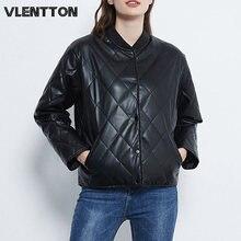 Женская винтажная клетчатая парка черная хлопковая куртка из
