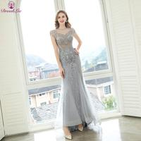 Luxury Dubai Plus Size Evening Dress Full Beaded Crystal Embroidery Mermaid Evening Dresses Sexy Transparent Party Gown