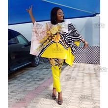 Африканский Дашики модный костюм(топ и брюки) супер эластичные вечерние Большие размеры для леди BFTZ06