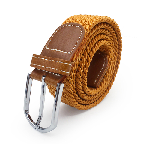 Men Elastic Stretch Waist Belt Black Canvas Stretch Braided Elastic Woven Leather Belt Wide Hot Metal Stretch Belt For Men Islamabad