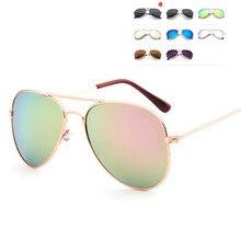 Classic Sunglasses Metal-Frame Travel Colorful Children Girls Mirror Kids