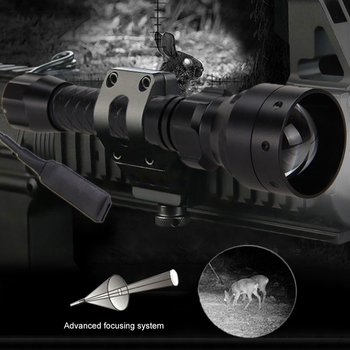 T50 IR850 Zoomable Adjustable hunting flashlight Night Vision illuminator Tactical Flashlight USB powerful torch 18650 battery tactical hunting torch ir night vision adjustable zoomable gun infrared illuminator flashlight black 850nm 18650 battery include