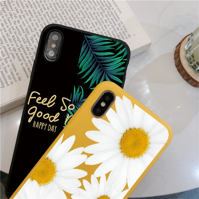 Fruit Flower Soft Phone Case For iPhone 7 Plus X XR XS Max 6 6S 7 8 Plus 5 5S SE 2020 Back Cover For iPhone 12 11 Pro Max Funda 4