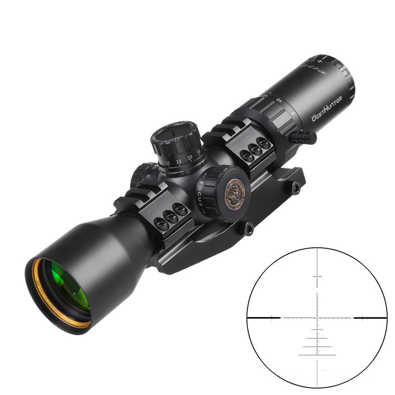 Compact FFP Scope WESTHUNTER WT-F 3-12X44FFP First Focus Plane Reticle Riflescope Long Eye Relief Shooting Optical Sights