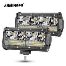 ANMINGPU 4inch 7inch 40W 80W LED Light Bar Offroad 12V 24V LED Work Light for Car Truck