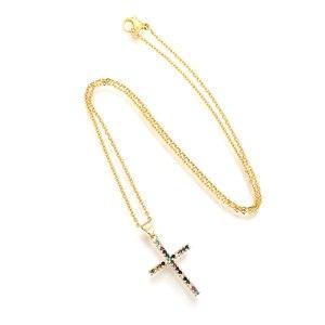 Женское Золотое колье с подвеской из фианита с радужным глазом, ювелирное изделие с цирконом, сердце, змея, крест, цепочка, ожерелья, Прямая поставка