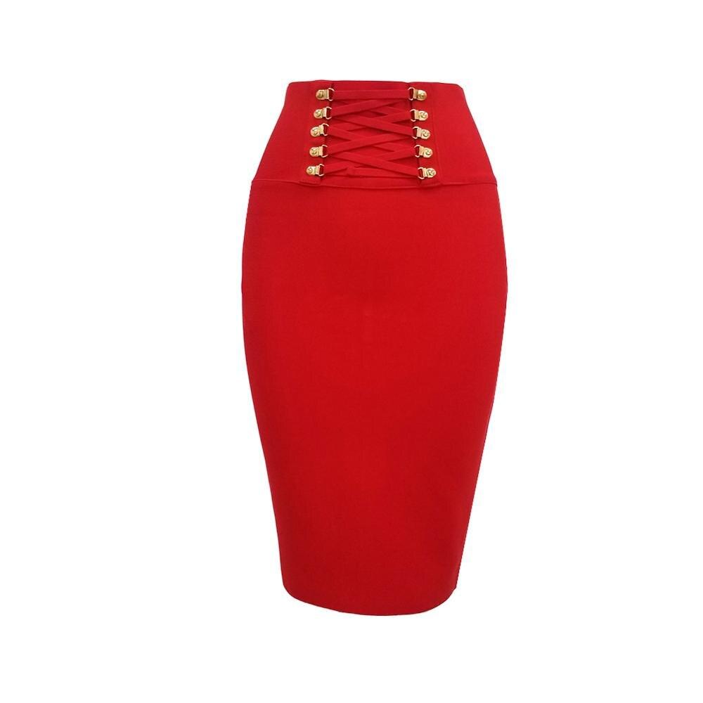 Bandage Skirts Womens Sexy Women Clothes Pencil 2020 Summer Black High Waist Skirt Harajuku Vintage Clothes
