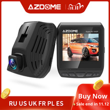 AZDOME DAB211 Ambarella A12 2560x1440P Super HD Car DVR Dashboard Camera Video Recorder Loop Recording Dash Cam Night Vision GPS