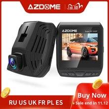 Автомобильный видеорегистратор AZDOME DAB211 Ambarella A12 2560x1440P Super HD, видеорегистратор с циклической записью и ночным видением, GPS