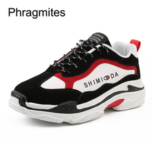 Phragmites New Arrival Autumn Sneakers Black Chunky Sneakers Platform Wedges Shoes for Women Zapatos De Mujer Casual Shoes стоимость