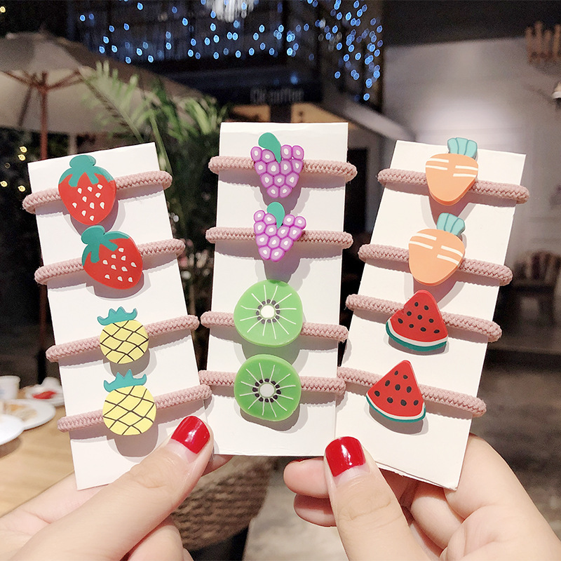 Carrot Vegetable Ponytail Holder Elastic Rubber Band Head Ring Hair Accessories