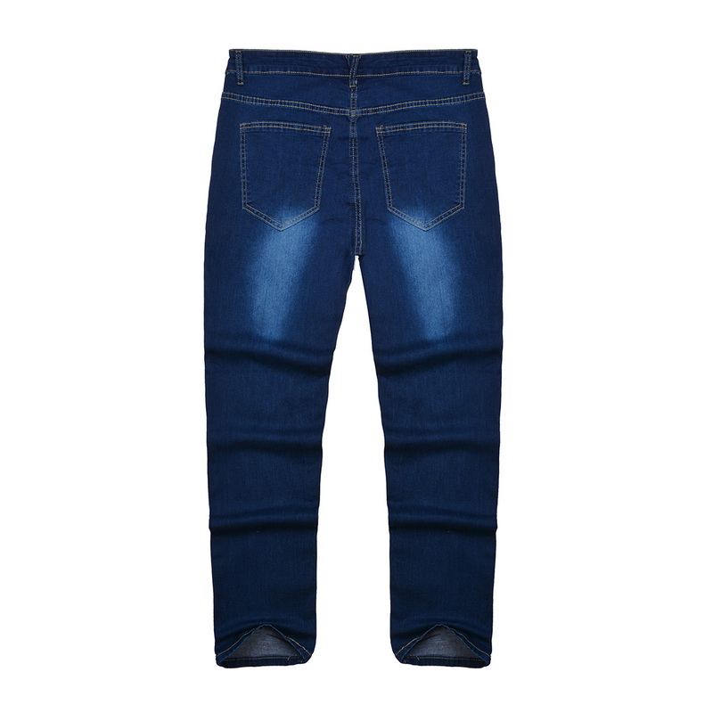 Oeak Mens Solid Color  Jeans 2019 New Fashion Slim  Pencil Pants Sexy Casual Hole Ripped Design Streetwear