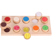 Montessori teaching aids touchpad board children early education sensory wooden toys educational