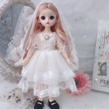 Bjd-Doll Dress-Shoes Joints Makeup Eyeball Girls 12inch with for Toy 22-Movable 30cm