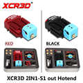 3D Printer hot end 2 in 1 out Switch Color Bowden Extruder Parts XCR3D 2IN1-S1 Hotend J-head 12V/24V 1.75mm Filament Cooling Fan