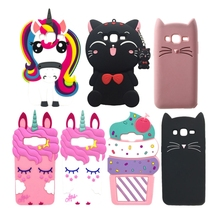 Unicorn Case For Samsung Galaxy J3 2016 Cover Cartoon Silicone Case For Coque Samsung J3 2016 Phone Cases 3D Cute Girl J3 Funda