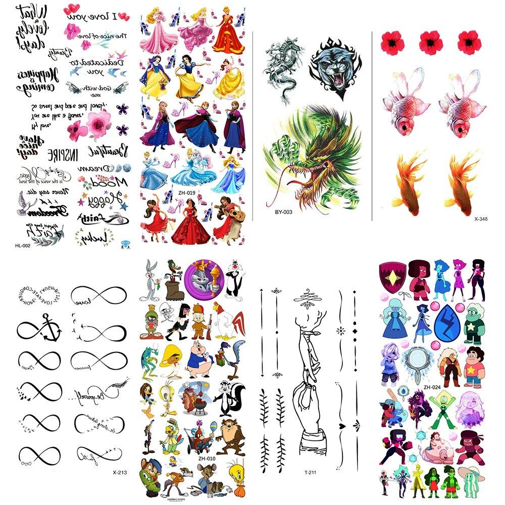 Tattoo Temporary Tatoo Temporaire Femme Waterproof Stickers Sticker Kids Children Flash Girl Cute Body For Tatto Arm