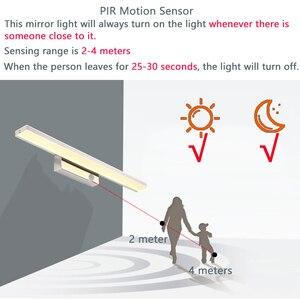 Image 2 - CONDUZIU a Luz do Espelho 42 52cm Cosmética Moderna Acrílico Lâmpada de Parede Sensor de Movimento PIR À Prova D Água Para A Luz Do Banheiro arandela lâmpada ZJQ0005