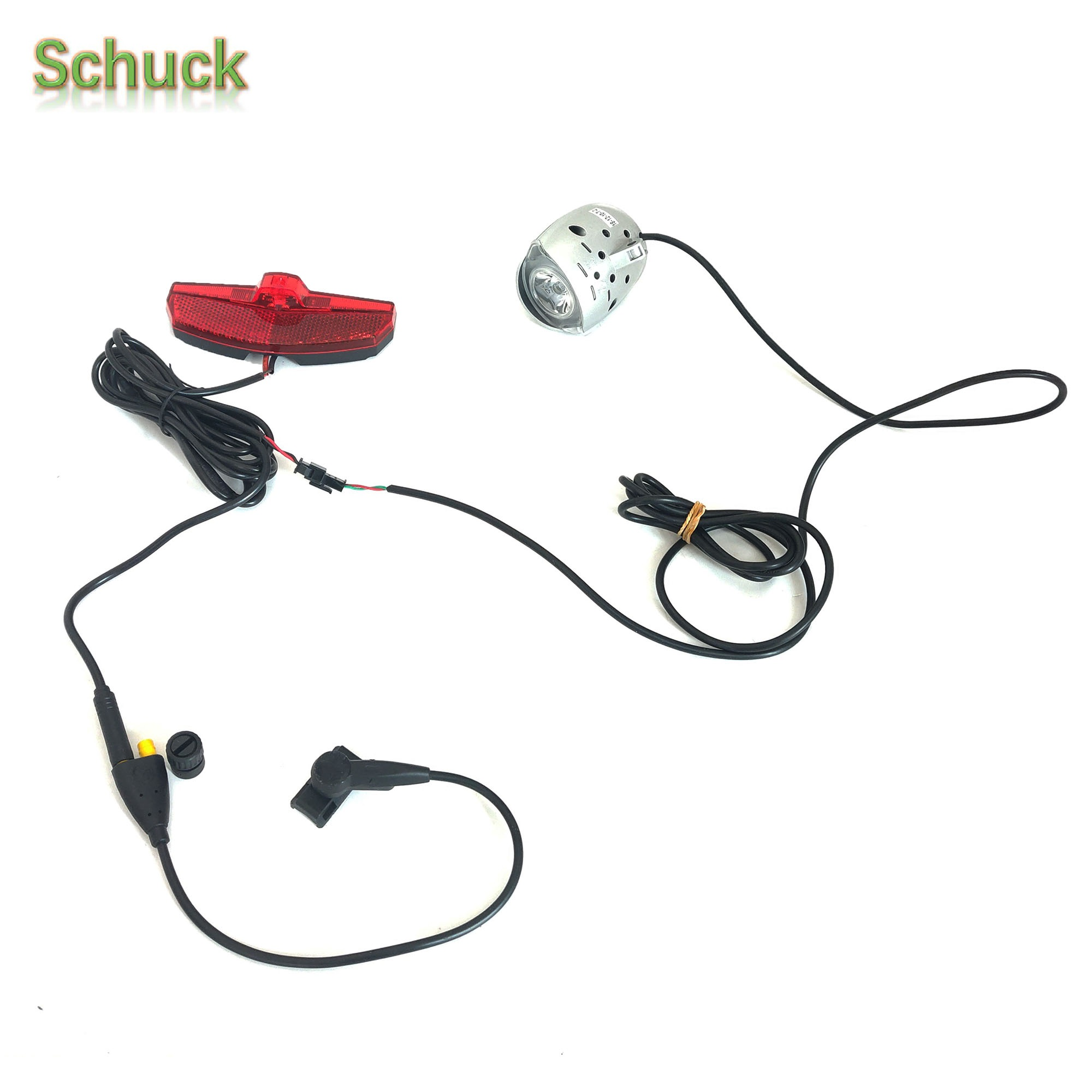 Schuck TSDZ2 Speed Sensor with Y Splitter for Headlight and Taillight Connections For 6V Lamp