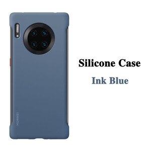 Image 2 - HUAWEI Mate 30 Pro Case oryginalny oficjalny wysokiej jakości ochraniacz silikonowy miękki HUAWEI Mate 30 skrzynki tylnej okładce