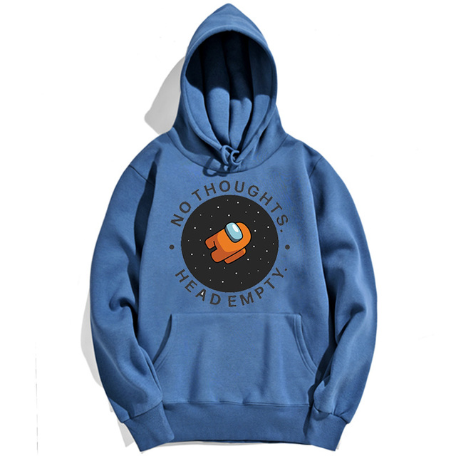 NO THOUGHTS HEADEMPTY AMONG US THEMED HOODIE