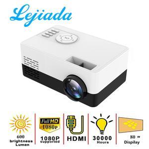 LEJIADA NEW J16 LED Mini Projector 320x240 Pixels Supports 1080P HDMI USB Audio Portable Projector Home Media Video player()