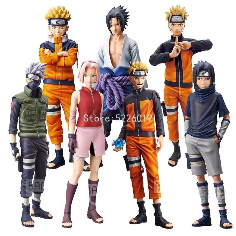 28Cm Naruto Shippuden Anime Figuur Ros Grandista Uzumaki Naruto Figuur Uchiha Sasuke Hatake Kakashi Haruno Sakura Action Figures