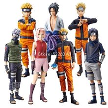 28cm Naruto Shippuden Anime figura ROS Grandista cifra Uzumaki Naruto Uchiha Sasuke Kakashi Hatake Haruno Sakura figuras de acción