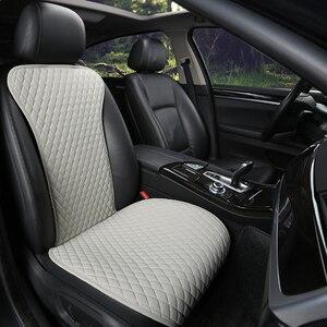 Image 4 - קל נקי לא מהלכי רכב מושב כריות, אוניברסלי עור מפוצל ללא שקופיות עמיד למים מושבי כיסוי מתאים לlada Granta E1 X36