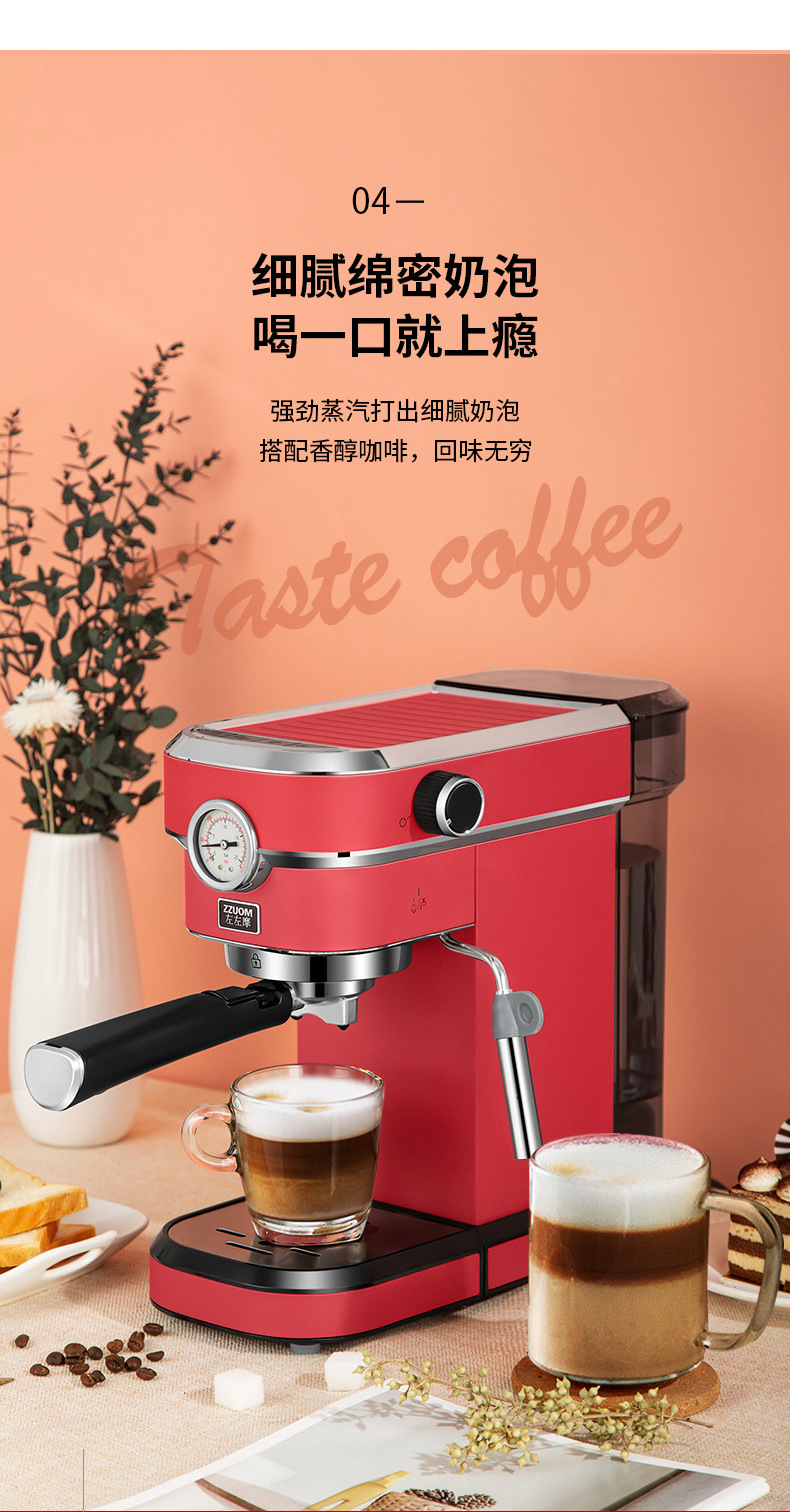 H425b58563f344327bb8f7cbf91c1709cM - 2020 Neue 15Bar Espresso Machine Stainless Steel Body Memory Function Home Use Fully Automatic Milk Frother Kitchen Appliances