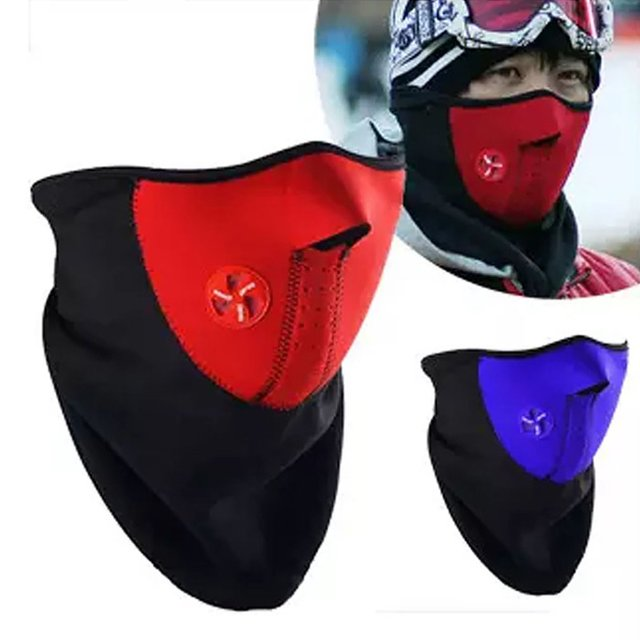 Warm Winter Ski Snow Scarf Motorcycle Half Face Mask Cover Outdoor Sport Neck Protector Motorcycle Face Mask 4