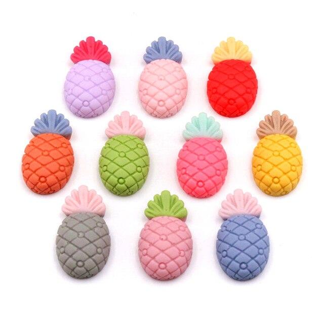 50 pièces couleur mixte résine fleur Fruit Animal planaire bricolage artisanat fournitures téléphone coque décor Patch matériel ornement cheveux accessoires
