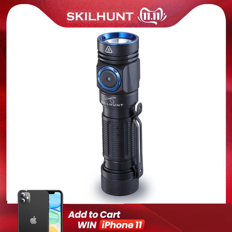 2019 Arrival SKILHUNT M150 CREE XP-L2 LED 750 Lumens USB Edc-Torch Magnetic Charging Flashlight With 14500/AA Batteries OLIGHT