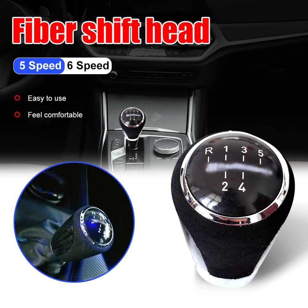 5/6 Speed Car Gear Shift Knob Shifter Lever Car Replacement Parts Fit For BMW Performance E81 87 E46 E90 E91 E92 Gear Shift Knob
