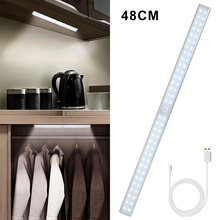 LED Light Rechargeable USB Cabinet Bottom Motion Sensor Wardrobe Night Kitchen