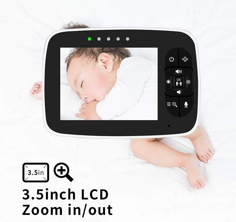 monitor de sono do bebê com câmera remota pan-tilt-zoom