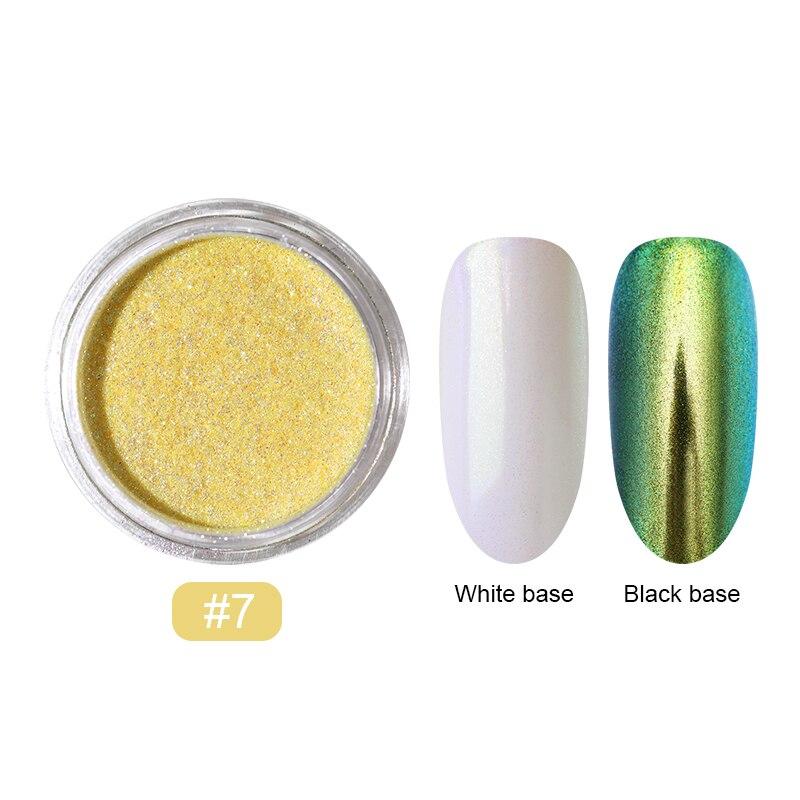 0,2 г/кор. зеркало-хамелеон, лазерные блестки для ногтей, порошки, эффект Auroras, дизайн ногтей, хромированный пигмент, пыль, сделай сам, дизайн, украшение - Цвет: 16