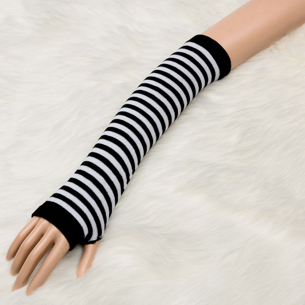 1 Pair Fashion Knitted Cotton Winter Warm Bracers Arm Sleeve Women Fingerless Long Gloves Warm Sleeve
