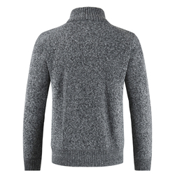 2019  Brand New Fashion Thick Sweaters Cardigan Coat Men Slim Fit Jumpers Knit Zipper Warm Winter Business Style Men Clothes 3
