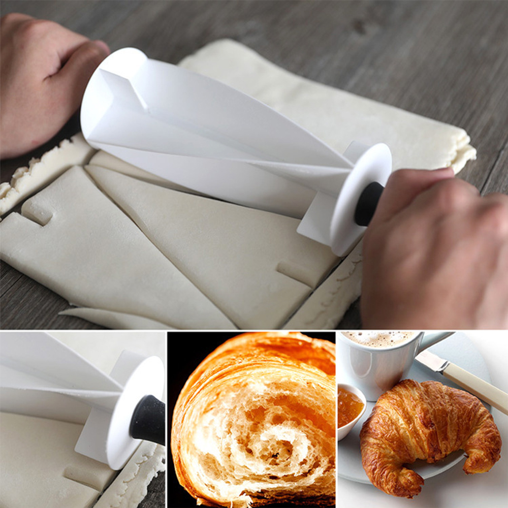 Dough Pastry Knife Multifunctional Rolling Croissant Cutter for Making Croissant Bread Dough Pastry Baking Kitchen Accessories
