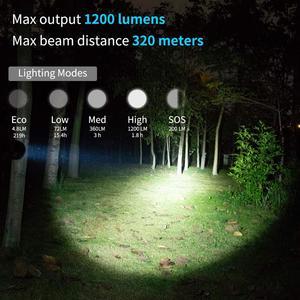 Image 3 - WUBEN L60 LED zumlanabilir el feneri USB şarj edilebilir meşale 1200 lümen 18650 pil IP68 su geçirmez LED 5 aydınlatma modları kamp için
