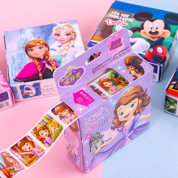 HOT SALE 200pcs/box Disney Cartoon Stickers Disney Frozen Elsa and Anna Princess Sofia Mickey Children Removable Stickers Toys коврик для мышки printio frozen little elsa and anna