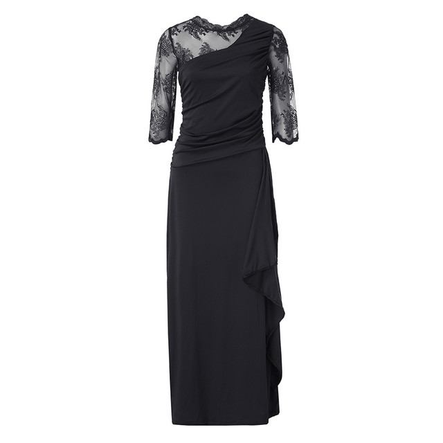 elegant lace sleeved formal gown 4