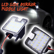 2x 18SMD LED Under Side Mirror Puddle Light For Ford C-max Focus Kuga Escape Mondeo IV S-Max Courtesy light Super Bright