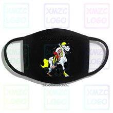 Mask Design Crew Neck Mens Lucky Luke T Mask
