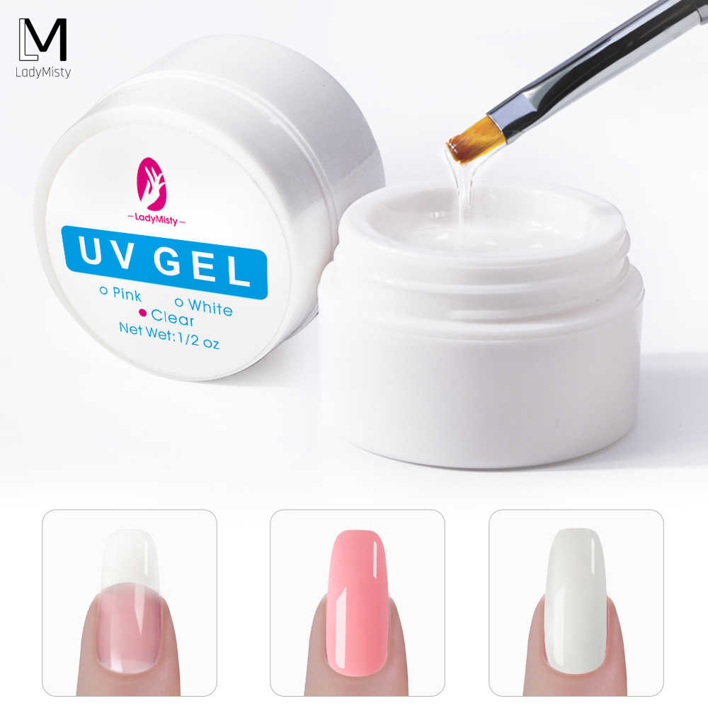 NIEUWE Nail Extension Gel 3 kleuren UV Builder Gel Acryl Poly Gel Builder Gel Voor Nail Vinger Extension Nail Gels nail Art Varnish