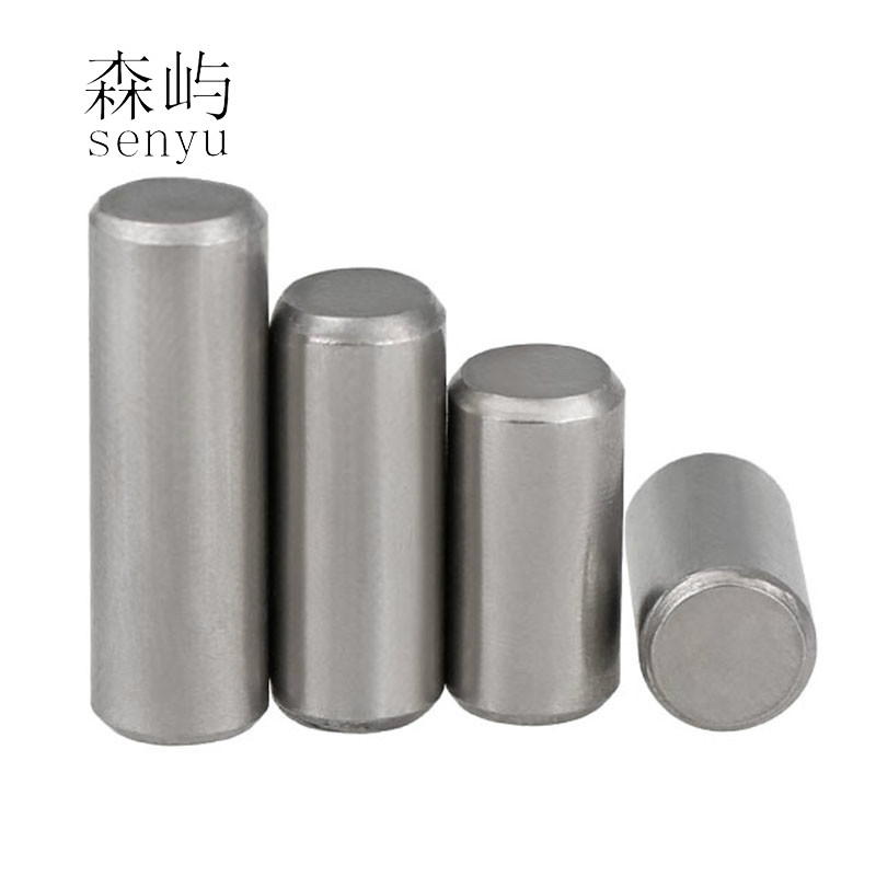 M8 304 Stainless Steel Round Cylindrical Pin Parallel Locating Solid Straight Retaining Dowel Rod Fasten Retaining Pins
